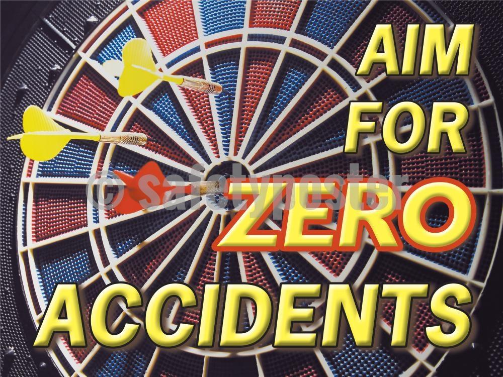 Aim For Zero Accidents - Safety Poster Accident Prevention