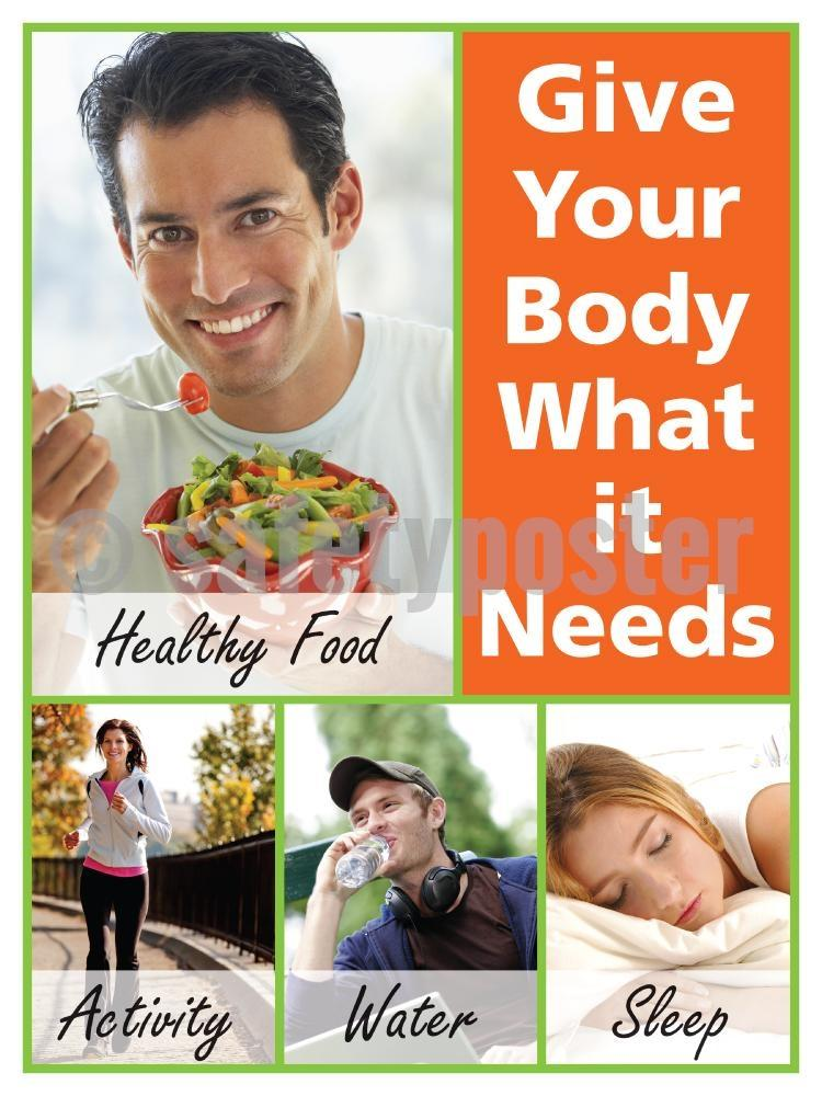 Give Your Body What It Needs - Safety Poster New Posters Health & Wellness