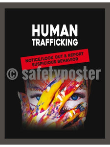Human Trafficking - Look Out & Report - Safety Poster