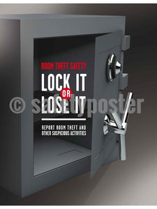 Lock It Or Lose It - Safety Poster New Posters Hospitality Office