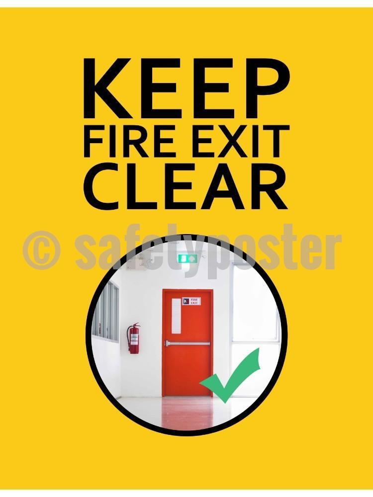 Keep Fire Exits Clear - Safety Poster