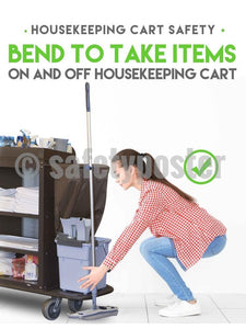 Housekeeping Cart Safety - Poster New Posters Hospitality