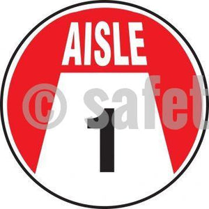 Aisle Number - Floor Sign Adhesive Signs