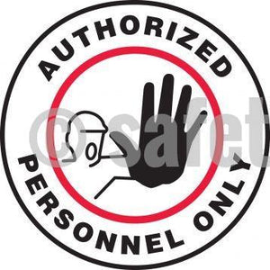 Authorized Personnel Only - Floor Sign Adhesive Signs