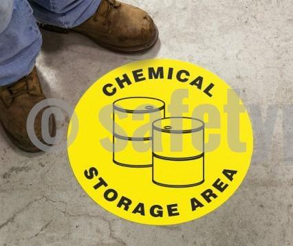 Chemical Storage Area - Floor Sign Adhesive Signs