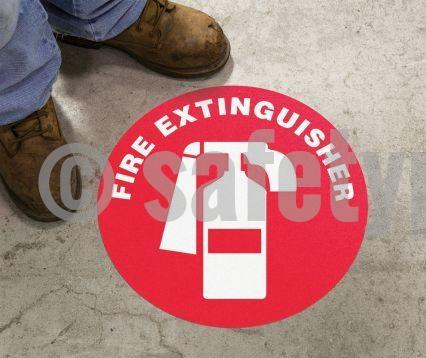 Fire Extinguisher - Floor Sign Adhesive Signs