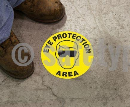 Eye Protection Area - Floor Sign Adhesive Signs