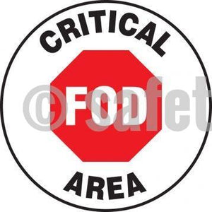 Fod Critical Area - Floor Sign Adhesive Signs