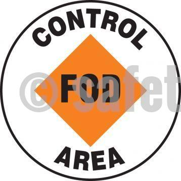 Fod Control Area - Floor Sign Adhesive Signs