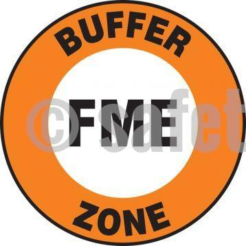 Fme Buffer Zone - Floor Sign Adhesive Signs