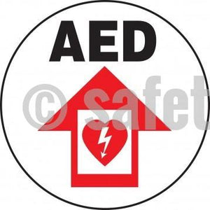 Aed - Floor Sign Adhesive Signs