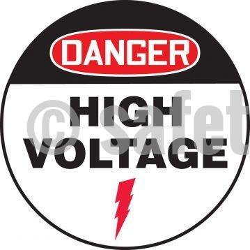 Danger High Voltage - Floor Sign Adhesive Signs