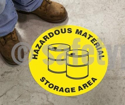 Hazardous Material Storage Area - Floor Sign Adhesive Signs