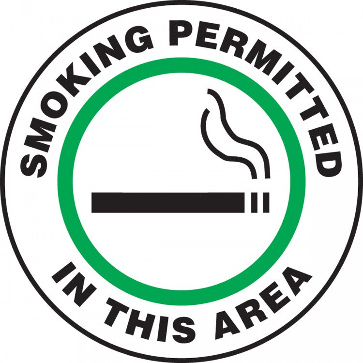 Smoking Permitted In This Area - Floor Sign