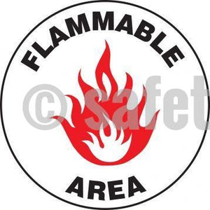 Flammable Area - Floor Sign Adhesive Signs