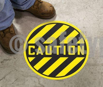 Caution - Floor Sign Adhesive Signs