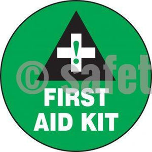 First Aid Kit - Floor Sign Adhesive Signs