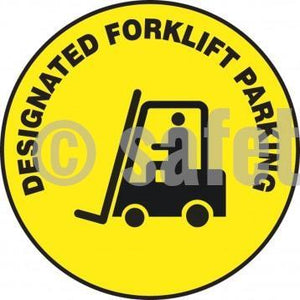 Designated Forklift Parking - Floor Sign Adhesive Signs
