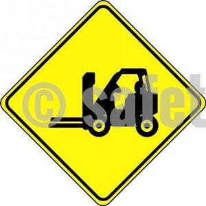 Forklift Symbol - Floor Sign Adhesive Signs