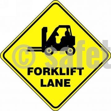 Forklift Lane - Floor Sign Adhesive Signs