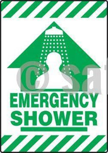 Emergency Shower - Floor Sign Adhesive Signs