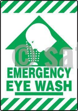 Emergency Eye Wash - Floor Sign Adhesive Signs