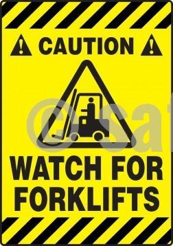 Caution Watch For Forklifts - Floor Sign