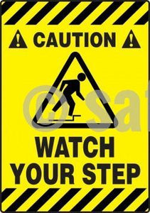 Caution Watch Your Step - Floor Sign Adhesive Signs