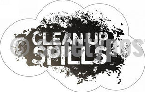 Clean Up Spills - Floor Graphic Adhesive Signs