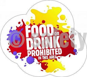Food Or Drink Prohibited In This Area - Floor Graphic Adhesive Signs
