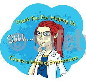 Thank You For Helping Us Create A Hearing Environment - Floor Graphic Adhesive Signs