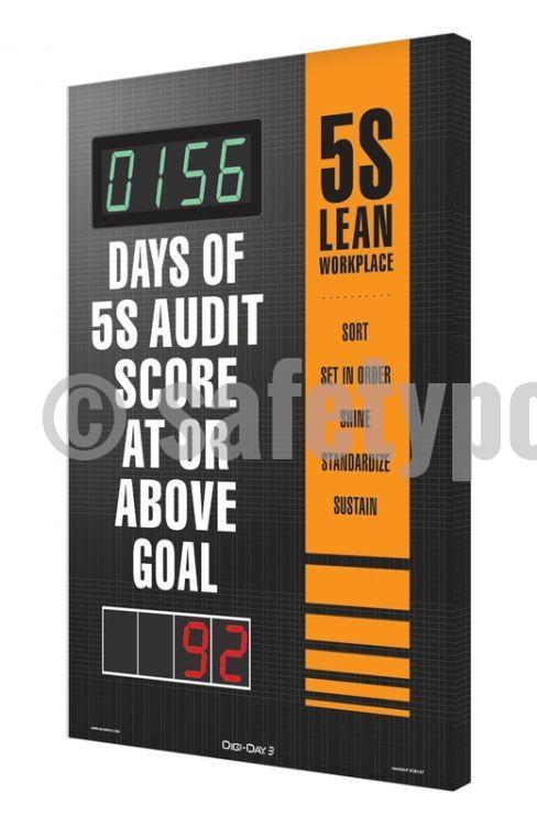 5S Lean Workplace _ Days Of Audit Score At Or Above Goal - Digi-Day 3 Digi-Day® Electronic Safety