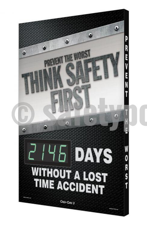 Prevent The Worst Think Safety First _ Days Without An Accident - Digi-Day 3 Digi-Day® Electronic