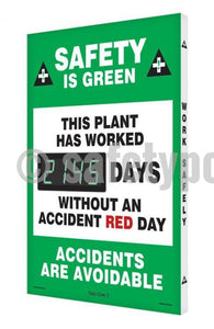 Safety Is Green This Plant Has Worked _ Days Without Accident Red Day - Digi-Day 3 Digi-Day®