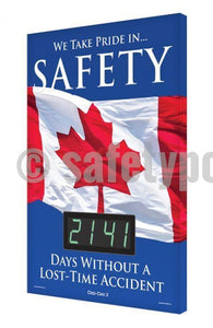 We Take Pride In Safety _ Days Without A Lost-Time Accident - Digi-Day 3 Digi-Day® Electronic