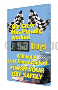 Our Crew Has Proudly Worked _ Days Without An Accident - Digi-Day 3 Digi-Day® Electronic Safety