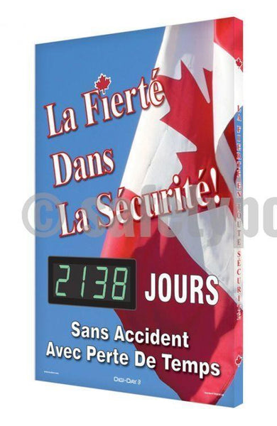 Pride In Safety _ Days Without A Lost-Time Accident - Digi-Day 3 (Avail. French) French Digi-Day®