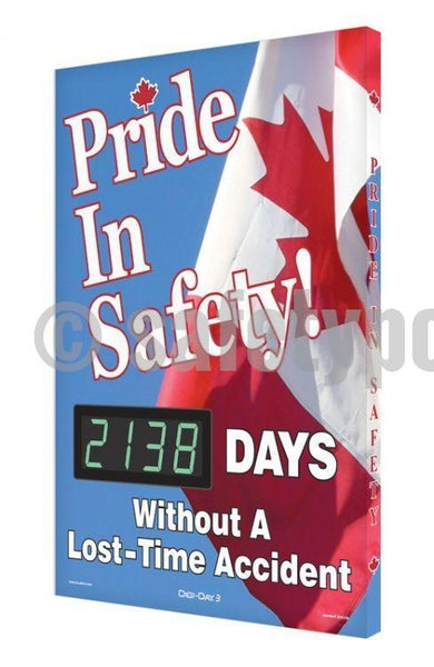 Pride In Safety _ Days Without A Lost-Time Accident - Digi-Day 3 (Avail. French) English Digi-Day®