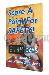 Score A Point For Safety _ Days Without An Accident - Digi-Day 3 Digi-Day® Electronic Scoreboards