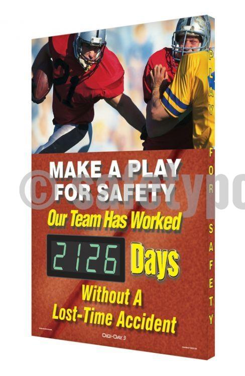 Make A Play For Safety _ Days Without An Accident (Football) - Digi-Day 3 Digi-Day® Electronic