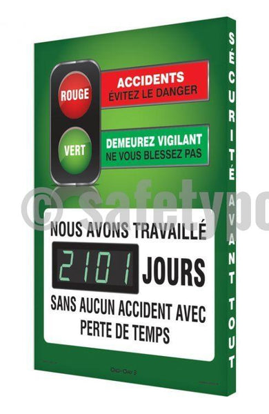 Accidents Avoid Danger Stay Alert Dont Get Hurt - Digi-Day 3 (Avail. In French) French Digi-Day®