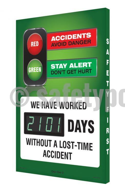 Accidents Avoid Danger Stay Alert Dont Get Hurt - Digi-Day 3 (Avail. In French) English Digi-Day®