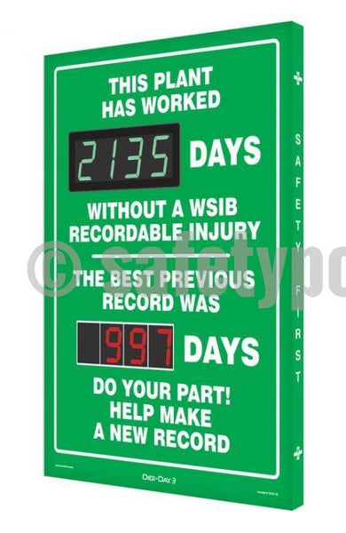 This Department Has Worked _ Days Without Wsib Injury - Digi-Day 3 (Avail. In French) English