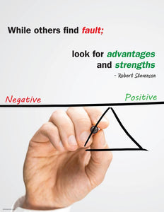 Look For Advantages And Strengths - Robert Stevenson Motivational Poster Posters New