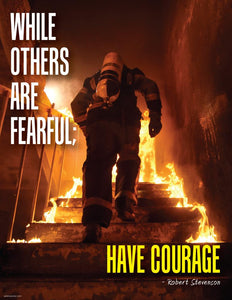 Have Courage - Robert Stevenson Motivational Poster Posters New