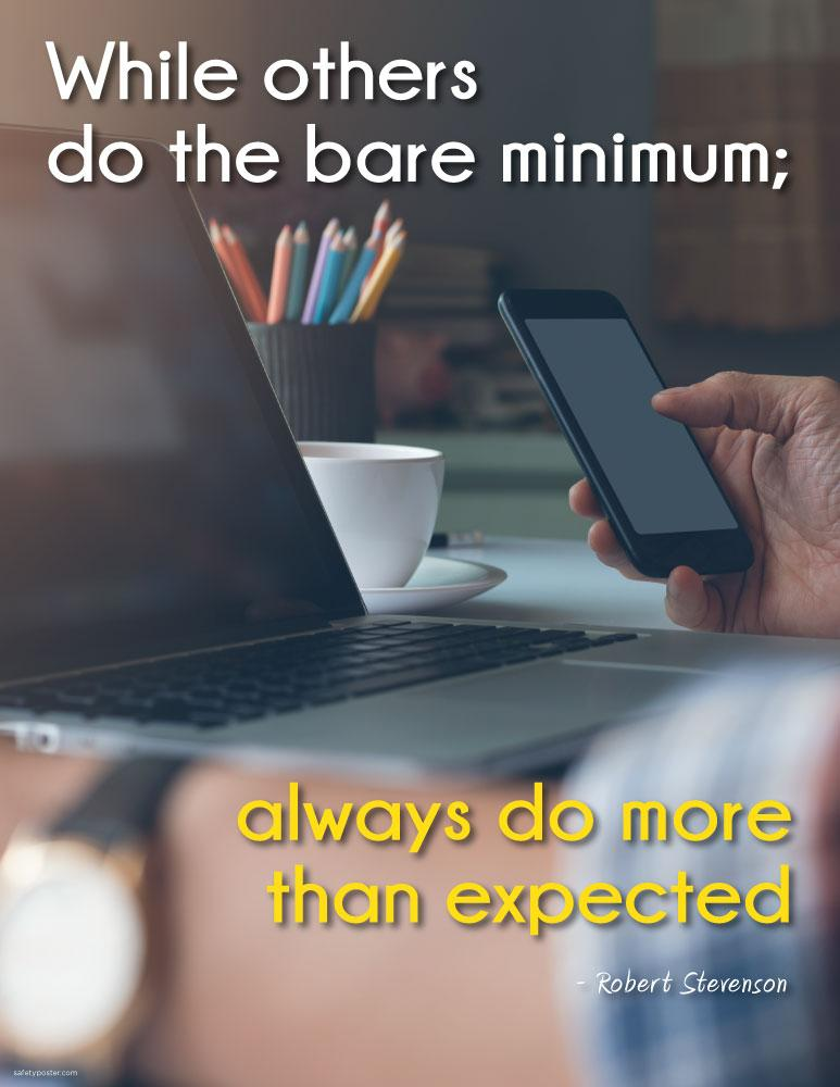 Always Do More Than Expected - Robert Stevenson Motivational Poster Posters New