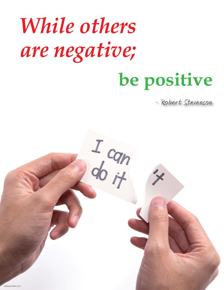 Be Positive - Robert Stevenson Motivational Poster Posters New