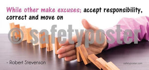 Accept Responsibility Correct And Move On - Robert Stevenson Success Sign Signs