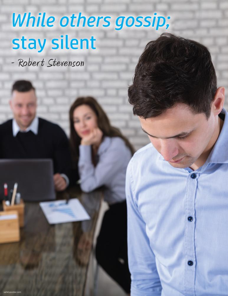 Stay Silent - Robert Stevensons Motivational Poster Posters New