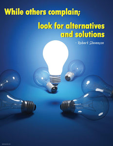 Look For Alternatives And Solutions - Robert Stevenson Motivational Poster Posters New